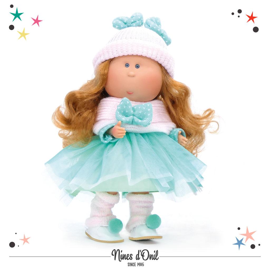 Nines d'Onil Puppe MIA mit Kopfbedeckung · Türkis