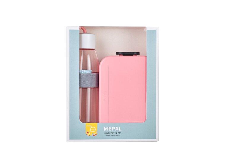 MEPAL Lunchset Unterwegs (Lunchbox + Trinkflasche) - Nordic pink