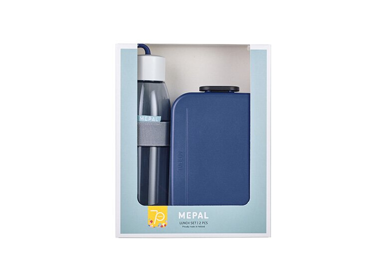 MEPAL Lunchset Unterwegs (Lunchbox + Trinkflasche) - Nordic denim